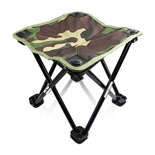 Folding Stool, QM-STAR Ultra Light Military Camouflage Folding Portable Stable Square Stool for Outdoor Camping,Fishing,Hiking,Mountaineering & Outdoor Recreation 11.4