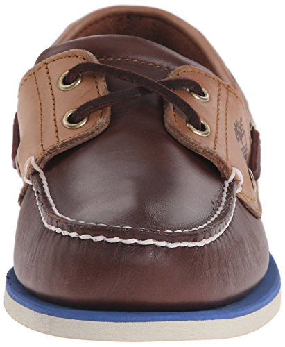 Timberland Classic Boat 2 Eyepotting Soil and Tan Two-Tone, Zapatos del Barco para Hombre Marrón (Potting Soil And Tan Two-tone)