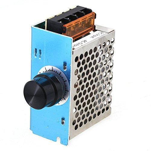 Tenflyer De alta potencia de 4000W 220V controlador de velocidad SCR Voltaje Electrónico Regulador Gobernador Termostato: Amazon.es: Electrónica