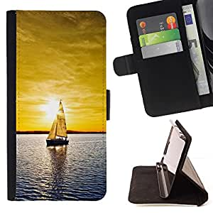 Momo Phone Case / Flip Funda de Cuero Case Cover - Sunset yate;;;;;;;; - Samsung Galaxy S3 III I9300