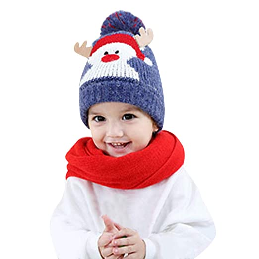 Amazon.com: Cute Baby Beanie Hats for Boys Girls Cap Cotton Letter ...