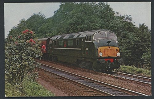 Warship Train Diesel Passenger Locomotive Engine Railroad Postcard -