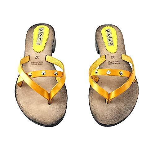 Pts05 Italy giallo Giallo Donna Da In Made Sandalo FqnUpYXwxv