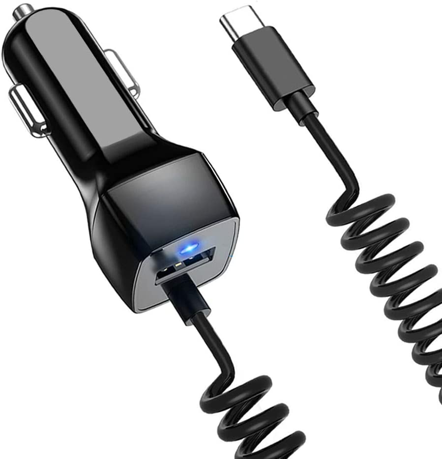 USB C Car Charger Compatible Samsung Galaxy S10 S10+ S10e S9 S8 S9+ S8 Plus Note 10 Plus/10/8/9 Car Charger, Google Pixel XL/2/2 XL/3/3 XL/3a Type C Car Charger