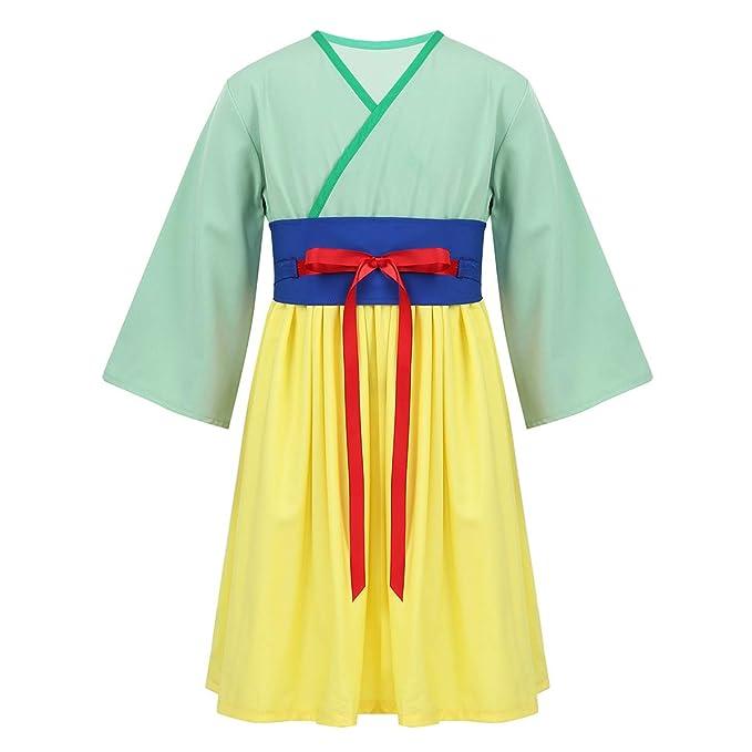 Agoky Disfraz de Princesa Mulán China para Niña Cosplay ...
