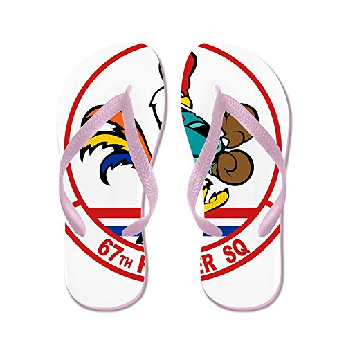 Cafepress 67th_fighter.png - Slippers, Grappige Leren Sandalen, Strand Sandalen Roze