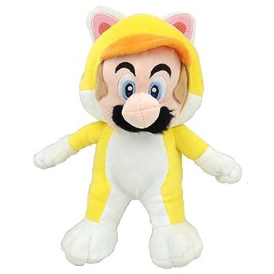 "Super Mario Bros Cat Mario Yellow Suit Soft Plush Toy Stuffed Animal 9"": Toys & Games"