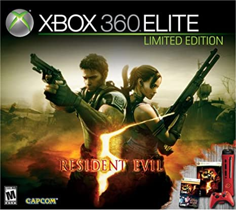 Amazon Com Xbox 360 Resident Evil 5 Elite Red Console Video Games