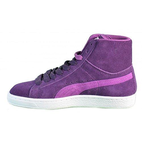Puma - Puma Zapatos Deportivos Mujer Cuero Cordones Suede Mid Wn's Violeta 355460-01 Violeta