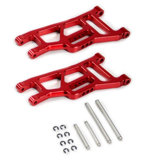 Atomik RC Traxxas Slash 2WD 1:10 Aluminum Alloy Front Lower Arm Hop Up Upgrade, Red Replaces Traxxas Part 3631
