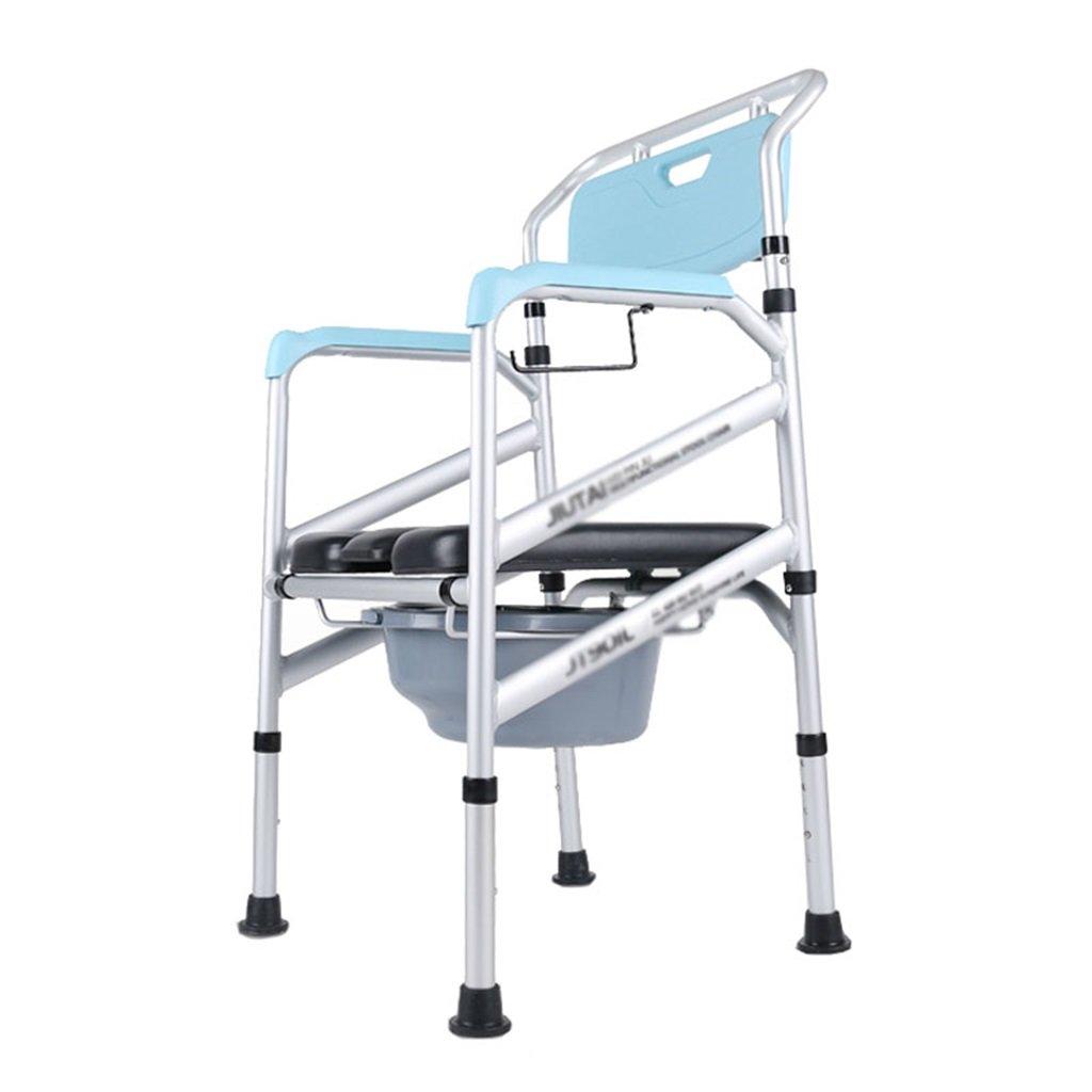 公式サイト ポータブル妊娠中の女性のトイレシート高齢者の人の浴室シャワースツールバケットの高さ調節可能なアルミ合金トイレチェア丈夫で耐久性のある障害の防止滑り止め手すりトイレの椅子Max.150kg B07F6WZ495 B07F6WZ495, 業務用厨房機器家具食器INBIS:bc8c41a8 --- eastcoastaudiovisual.com