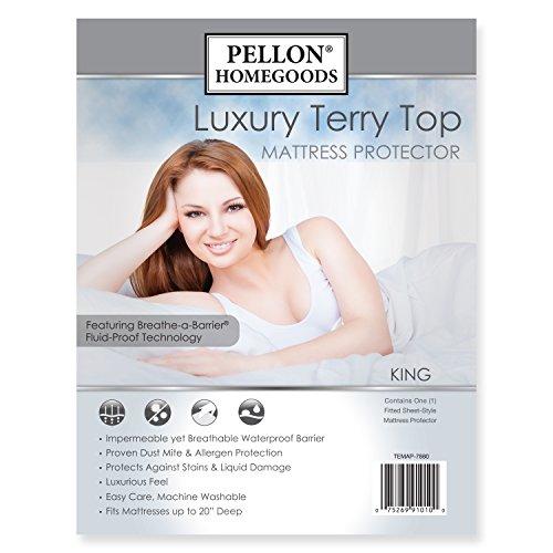 Pellon TEMAP-7880 Luxury Terry Top Mattress Protector - King Size by Pellon