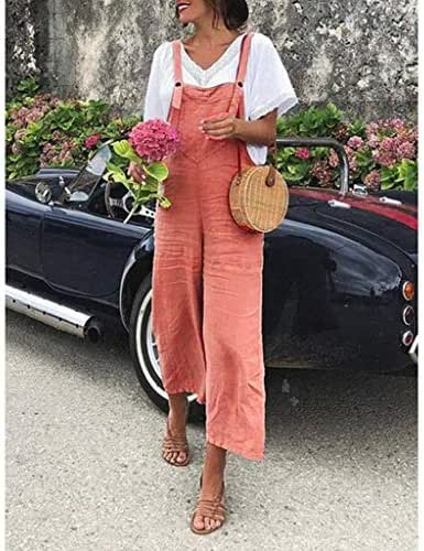 CCatyam Plus Size Jumpsuits for Women, Pants Trouser Wide Leg Cotton Overalls Loose Casual Fashion