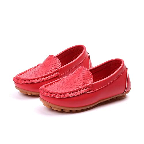 Boys Casual Penny Driving Loafer GirlS Bare PU Vamp Mocasines para niños Zapatos para niños!