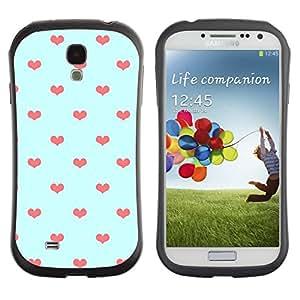 Suave TPU GEL Carcasa Funda Silicona Blando Estuche Caso de protección (para) Samsung Galaxy S4 I9500 / CECELL Phone case / / Blue Orange Polka Dot Love /