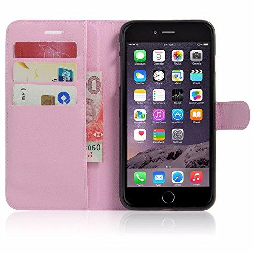Protección Caja para Apple Iphone 7 4.7 Pulgadas Smart Slim Case Book Cover Stand Flip (Blanco) NUEVO Rosa Claro