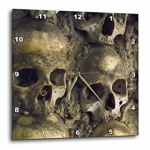 3dRose Skulls, Chapel of Bones, Evora, Portugal – Wall Clock, 15 by 15-Inch DPP_100285_3