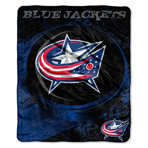 - The Northwest Company Officially Licensed NHL Columbus Blue Jackets Break Away Micro Raschel Throw Blanket, 46