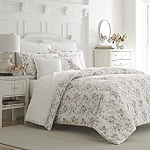 laura ashley rosalie flannel comforter set. Black Bedroom Furniture Sets. Home Design Ideas