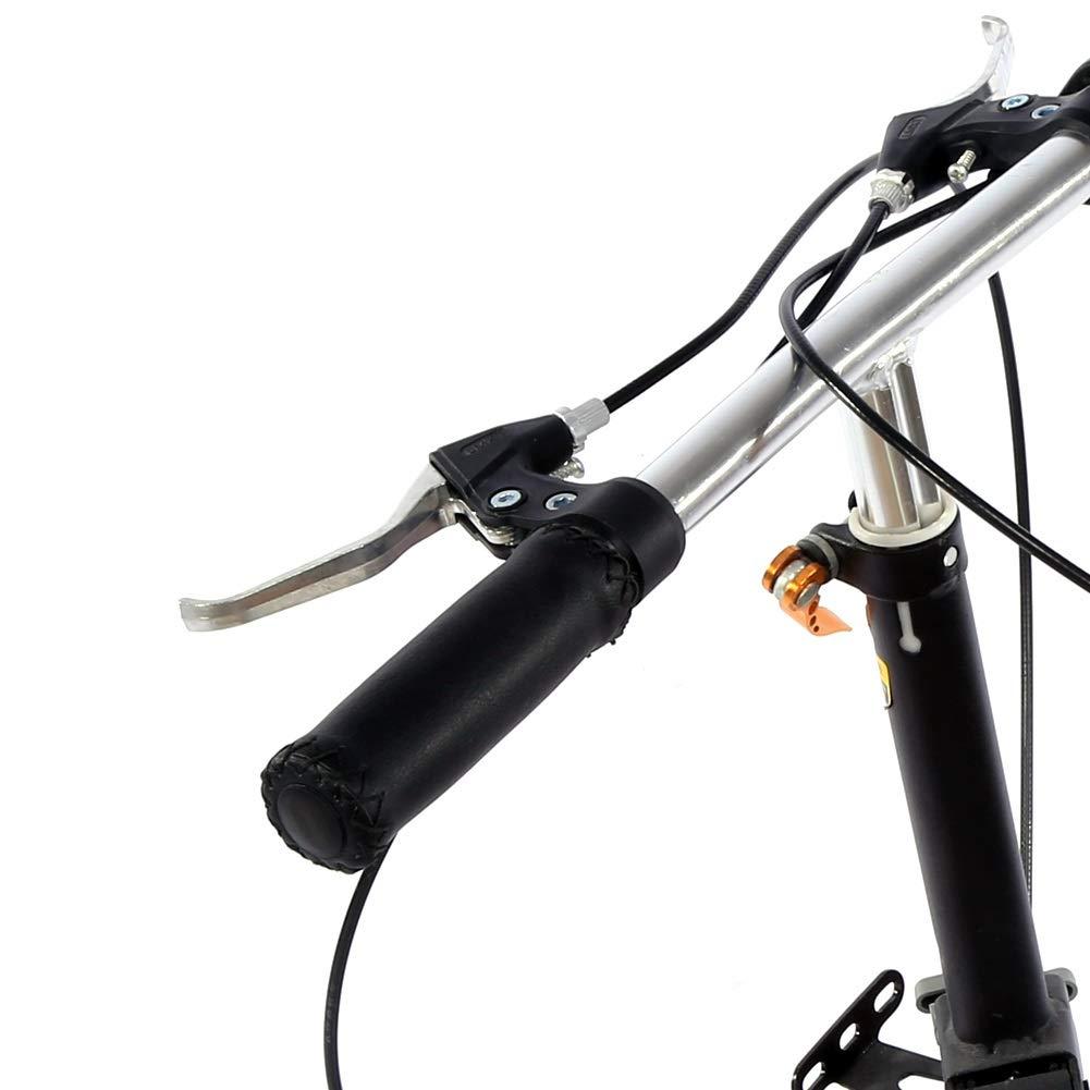 GXMZL Pu/ños de Manillar de Bicicleta 1 par de pu/ños de Manillar de Bicicleta Vintage Pu/ños de Mango de Bicicleta de Cuero Artificial con Agarre Antideslizante for Bicicleta de monta/ña