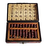 PP-NEST Aging Treatment Vintage Wooden Bead Arithmetic Abacus Chinese Calculator SP-01