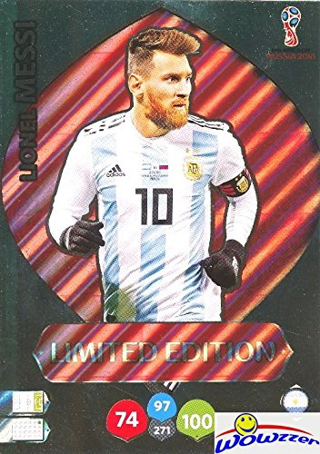 Russia Card (Lionel Messi Argentina 2018 Panini Adrenalyn XL WORLD CUP RUSSIA EXCLUSIVE LIMITED EDITION HUGE JUMBO XXL Card! Rare Card Imported from Europe! Shipped in Ultra Pro Top Loader! WOWZZER)