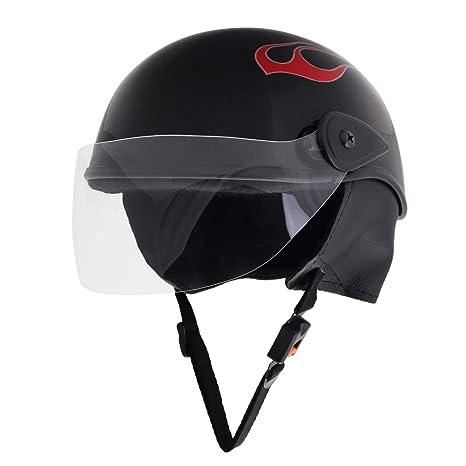 Sage Square Scooty Half Helmet For Men Women Small Black Glossy Sticker Design 4