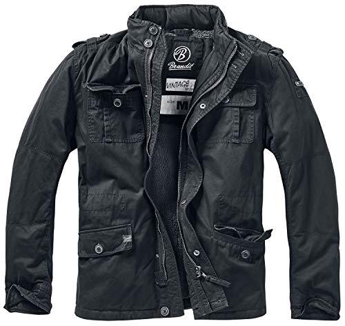 Winter Hombres Chaqueta XL Negro Brandit Britannia tamaño nT6qwdEx