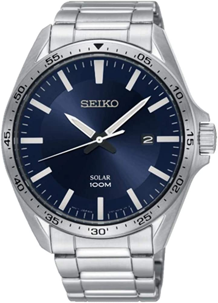 Seiko Reloj Analógico para Unisex Adultos de Cuarzo con Correa en Acero Inoxidable SNE483P1