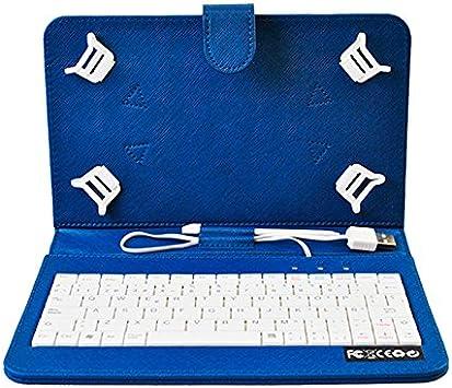 HOME a107363-8-BLUE - Funda para Tablet con Teclado, Color Azul
