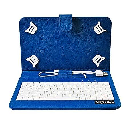 HOME a107363-8-BLUE - Funda para Tablet con Teclado, Color Azul: Amazon.es: Electrónica