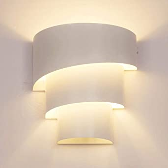 MBLYW Moderno LED Aplique de pared Lámpara de pared dormitorio lámpara de noche personalidad simple moderna creativa sala de estar europea americana balcón lámpara escalera pasillo lámpara-caracol: Amazon.es: Iluminación