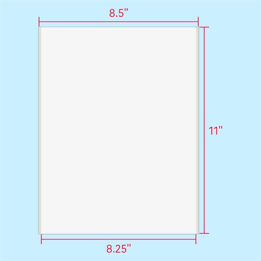 for Laser /& Inkjet Printers Square Corner 8.5 x 11 White, 25 Labels PACKZON Shipping Labels Full Sheet with Self Adhesive