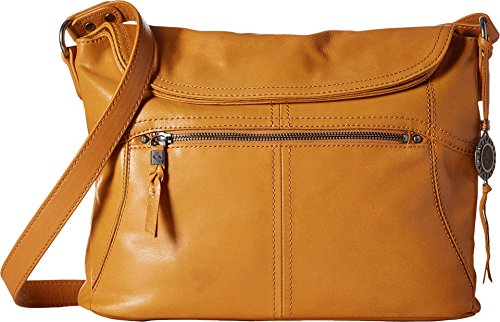 The Sak Esperato Flap Hobo Convertible Cross Body Bag,Ochre,One size by The Sak