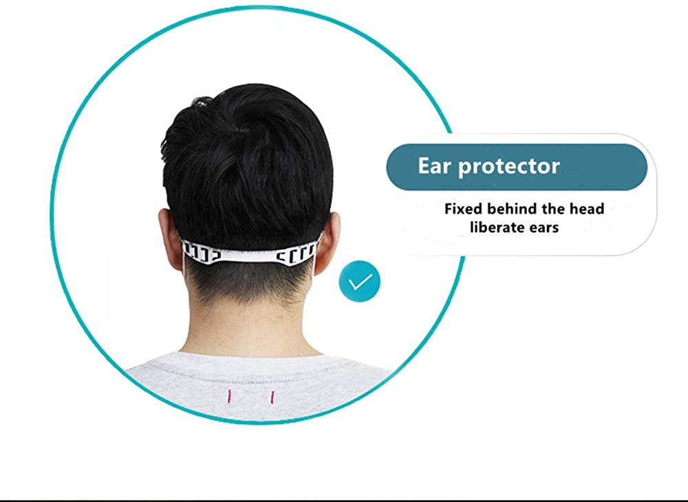 Anti-Tightening Ear Protector Decompression Holder Hook Ear Strap Accessories Ear Grips Extension Mask//Face Cover Buckle Ear Pain Relieved Colour Random IFUNICE 10PCS Strap Extender