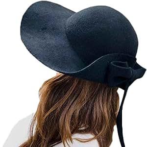 Sombrero De Lana De Fungus Del Arco Del Europeo Y Del Americano Sombrero De La Marea Del Color Caliente Al Aire Libre De La Marea,Black