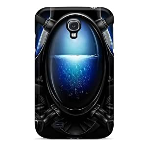 CLqcYIG2493JQDqo Tpu Phone Case With Fashionable Look For Galaxy S4 - Blue Alien