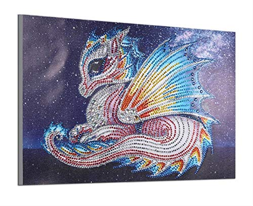5d Diamond Painting Kits New Special Shaped Diamond Embroider DIY Kits Christmas Gifts for Kids Adults Paint by Number Kits Cross Stitch Craft Kit Painting by Diamonds - Dragon -