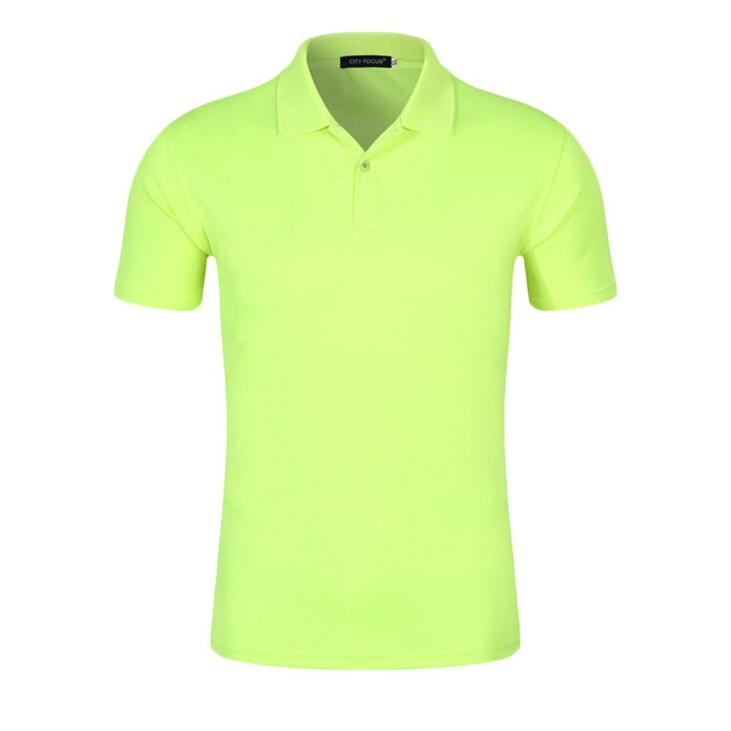 2ca0a066eb4 Summer Fashion Mens Polo Shirt Solid Color Short Sleeve Slim Fit Shirt Men  Cotton Polo Shirts Casual Shirts  Amazon.co.uk  Clothing