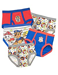 Paw Patrol Boys' Chase Marshall and Rubble Underwear Pack of 5