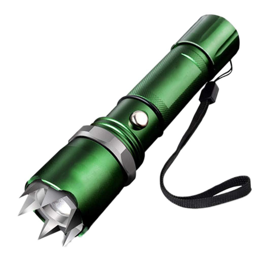 Taschenlampen Blendung Aufladung Super Helle Multifunktionshaushaltsgeschenk Im Freien (Farbe : Grün, Größe : 3.4  3.4  16cm)