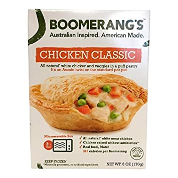 Boomerangs Classic Chicken Pot Pie 6 Oz Amazon Grocery
