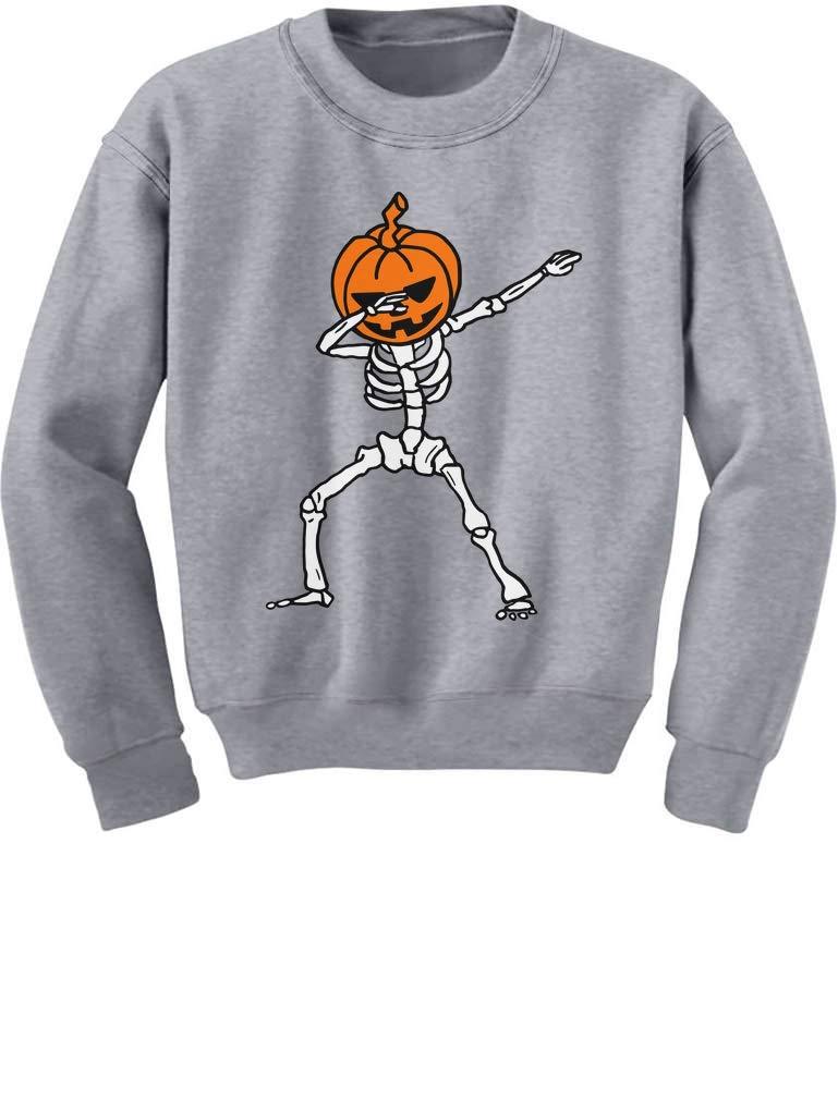 Tstars Halloween Dab Jack O' Lantern Dabbing Pumpkin Skeleton Youth Kids Sweatshirt GaMP0ZMgfm