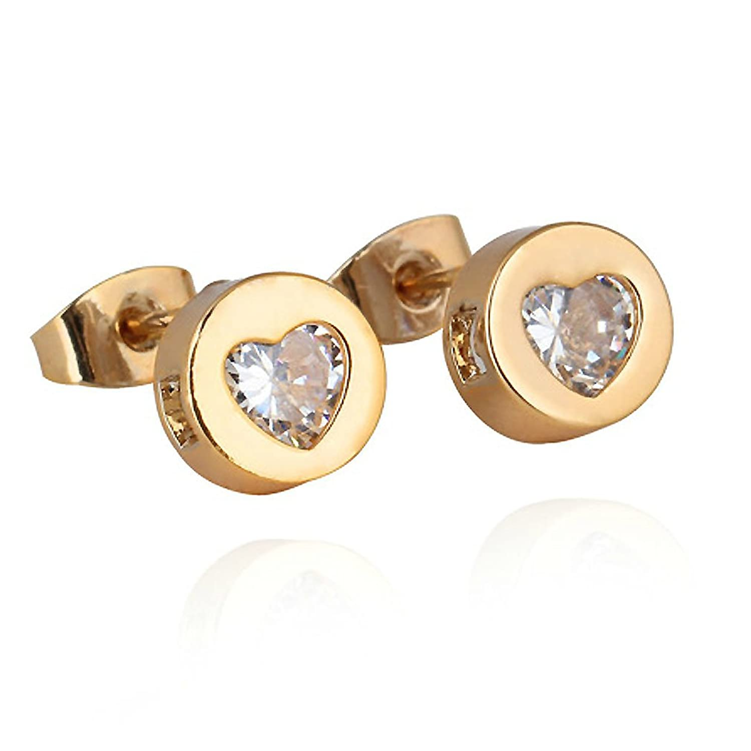 PROMOTIONS Yellow Gold Earrings Studs For Women Girls Ladies Gift ...