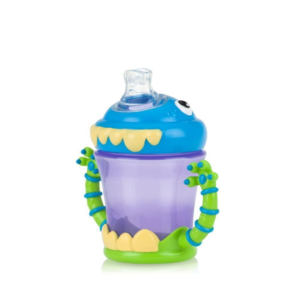 Nuby Two-Handle iMonster No-Spill Super Spout Cup, 7 Ounce 22040