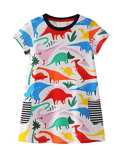 LNKXRTY Kids Cotton Dresses Baby Casual Dress Girls