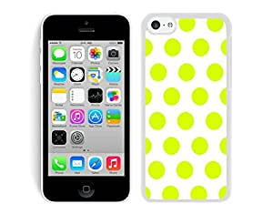 Polka Dot White and Turquoise iPhone 5C Case White Cover