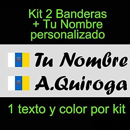 Vinilin - Pegatina Vinilo Bandera Canarias + tu Nombre - Bici ...