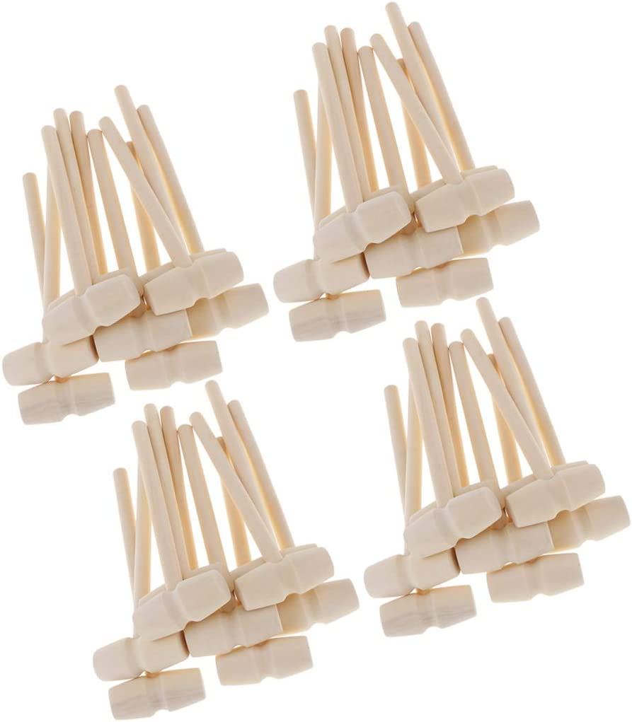 Cabilock 15pcs Mini Wooden Hammers Unfinished Wood Crab Mallets Pounding Toy Lobster Seafood Crackers for Kids Children