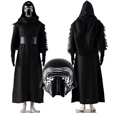 [Another Me Men's Kylo Ren Cosplay Outfit Costume Deluxe Star Wars The Force Awakens Costume Suit Male size Large] (Luke Skywalker Costume The Force Awakens)